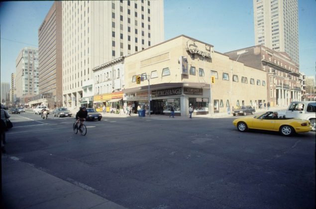 1980's - Coronet Theatre originally named The Savoy once at 399 Yonge St at Gerrard St E, northeast corner - opened from 1951 to early 1980's, now Barclay Jewelry