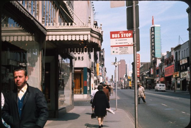 1970/72 - Downtown Theatre once at 285 Yonge St, south of Dundas St E on east side - opened from 1948 to 1972, building no longer exists