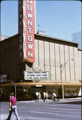 1972 - Downtown Theatre once at 285 Yonge St, south of Dundas St E on east side - opened from 1948 to 1972, building no longer exists