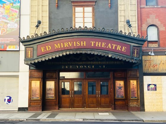 2021 - Ed Mirvish Theatre at 263 Yonge St and 244 Victoria St, south of Dundas Sq - once Imperial Six Theatre