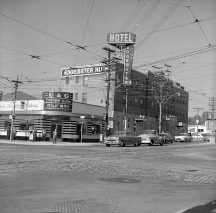 1957 - Edgewater Hotel once at Roncesvalles Ave & The Queensway, northwest corner