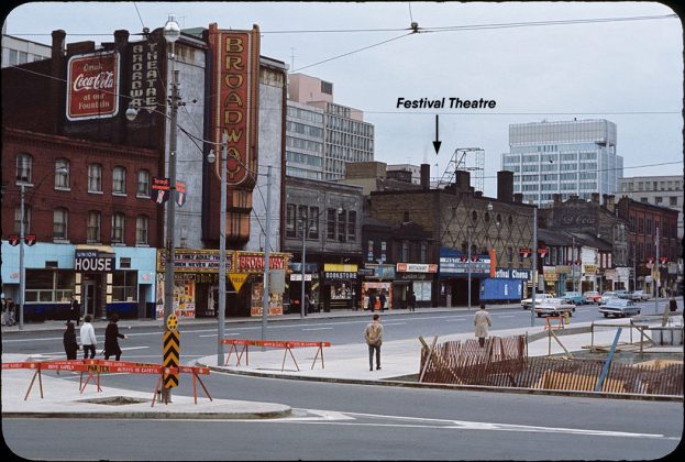 1964 - Festival Theatre, originally Casino Theatre once at 87-95 Queen St W, south side across from new City Hall - opened from 1936 to 1965, building no longer exists
