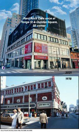 2021/1978 - Hard Rock Cafe once at 279 Yonge St