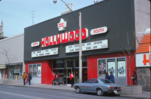 1975- Hollywood Theatre once at 1519 Yonge St, north of St Clair Ave on east side - opened from 1930 to 1999, building no longer exists