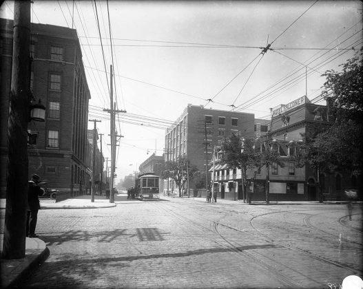 1906-14 - Hotel Falconer once at 460 King St W at Spadina Ave, northwest corner - later the Spadina Hotel