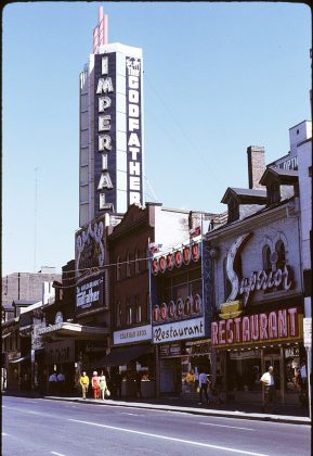 1972 - Imperial Six Theatre once at 263 Yonge St and 244 Victoria St, south of Dundas St E - now Ed Mirvish Theatre