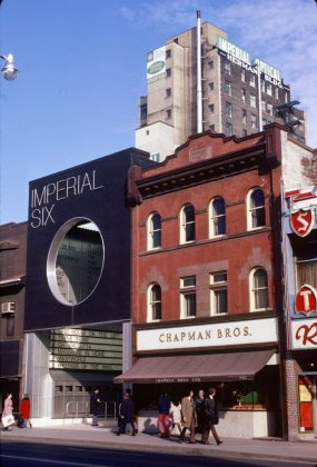 1973 - Imperial Six Theatre once at 263 Yonge St and 244 Victoria St, south of Dundas St E - now Ed Mirvish Theatre