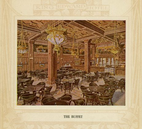 1903 - Sketch of The Buffet room from the King Edward Hotel brochure