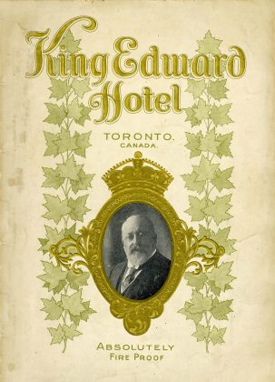 1903 - The front cover of the King Edward Hotel brochure