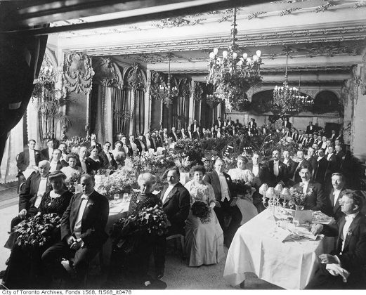 1907 - A complimentary dinner tendered by Sir John Eaton at the King Edward Hotel