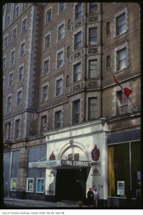 1979 - The main entrance of the King Edward Hotel on King St E
