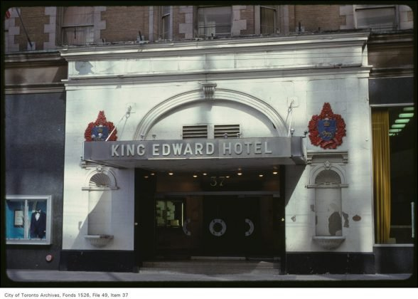 1979 - The main entrance of King Edward Hotel on King St E