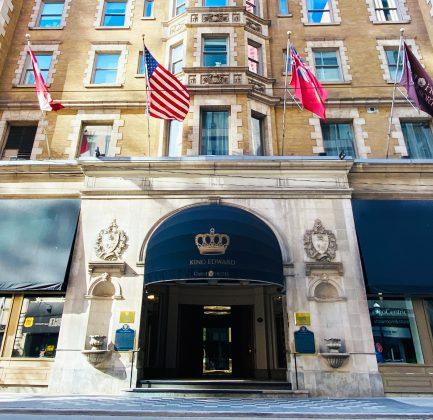 2021 - The main entrance of King Edward Hotel on King St E