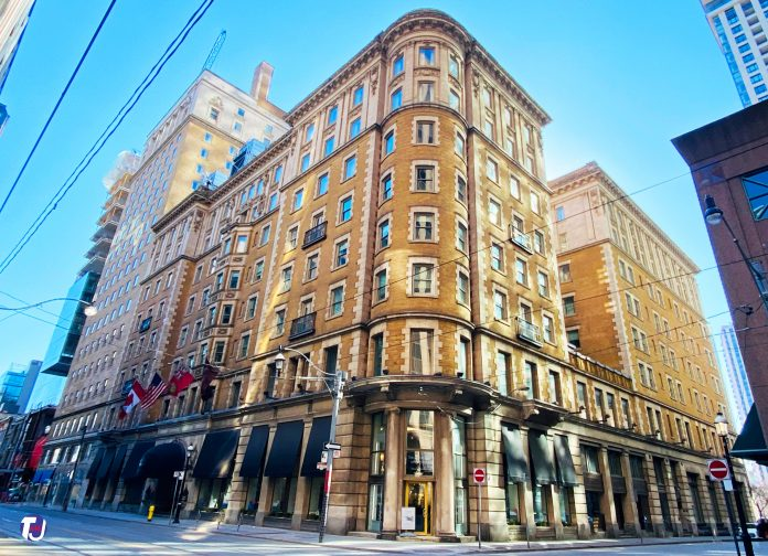 The King Edward Hotel at 37 King St E in Toronto (2021)
