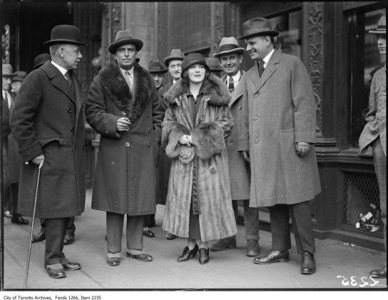 1924 - Hollywood stars Mary Pickford (from Toronto) and Douglas Fairbanks at the King Edward Hotel
