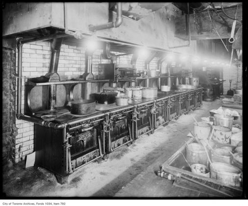 1916 - Kitchen of the King Edward Hotel showing McClary Garland gas ranges