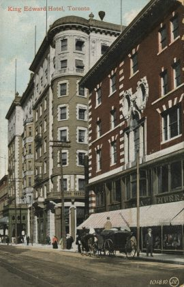 1909 - A postcard of the King Edward Hotel (Toronto Public Library pc358)