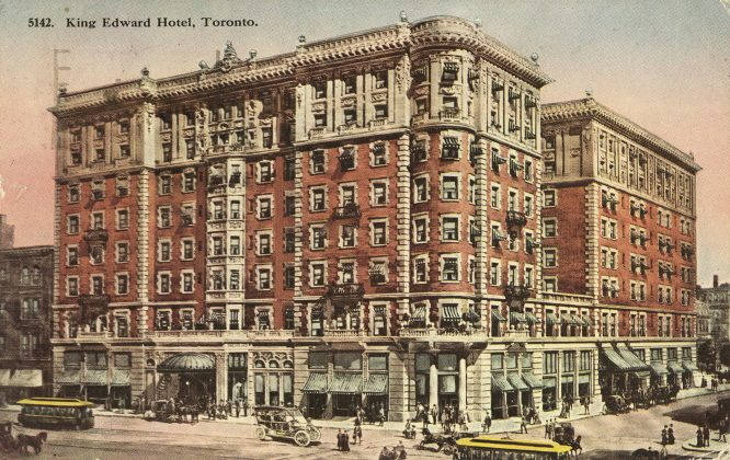 1915 - A postcard of the King Edward Hotel (Toronto Public Library pc356)