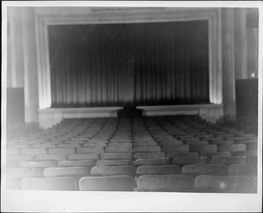 Date unknown - The seating and screen at the Kingsway Theatre