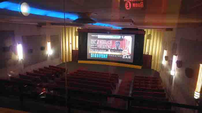 2016 - The seating and screen at the Kingsway Theatre