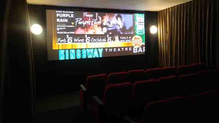 2016 - The 28-seat Screening Room at the Kingsway Theatre