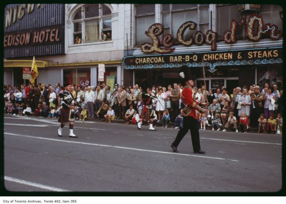 1972 - Le Coq d'Or Tavern once at 333 Yonge St, between Gould and Dundas Sts 