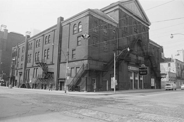 1972 - Massey Hall at 178 Victoria St at Shuter St, southeast corner