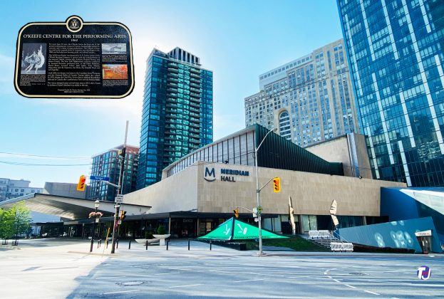 2021 - Meridian Hall at 1 Front St E at Yonge St, southeast corner - once the O'Keefe Centre