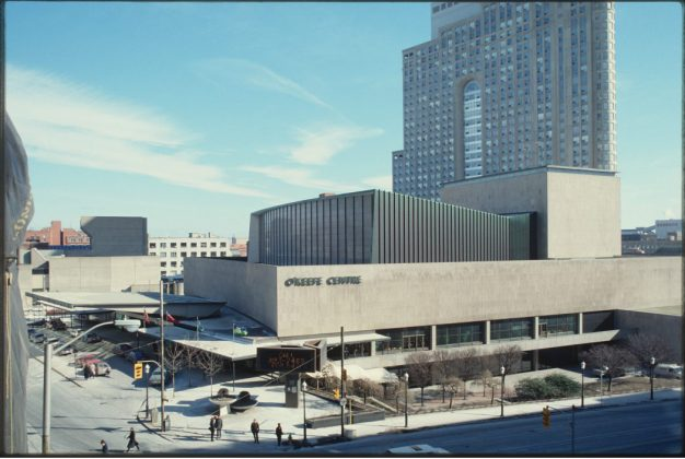 1983-84 - O'Keefe Centre once at 1 Front St E at Yonge St, southeast corner - now Meridian Hall