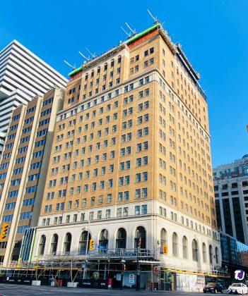 2020 - Park Hyatt (Park Plaza Hotel) at 4 Avenue Rd, at Bloor St W, under renovation