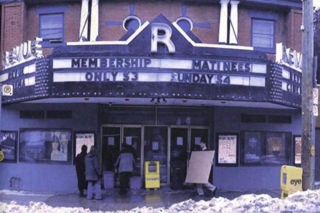1970 - Revue Theatre at 400 Roncesvalles Ave, west side south of Howard Park Ave