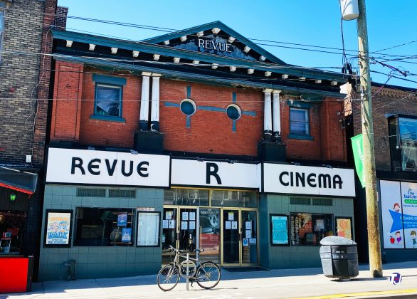 2021 - Revue Theatre at 400 Roncesvalles Ave, west side south of Howard Park Ave