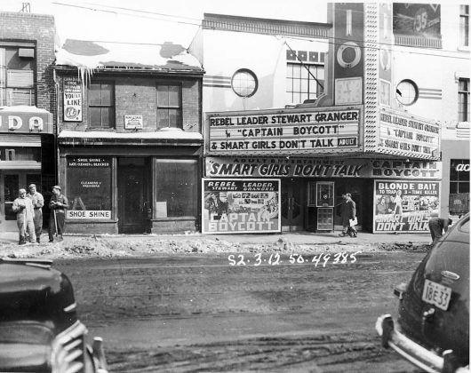 1950 - Rio Theatre once at 373 Yonge St, east side south of Gerrard St E - building no longer exists