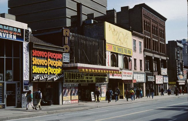 1972/91 - Rio Theatre once at 373 Yonge St, east side south of Gerrard St E - building no longer exists
