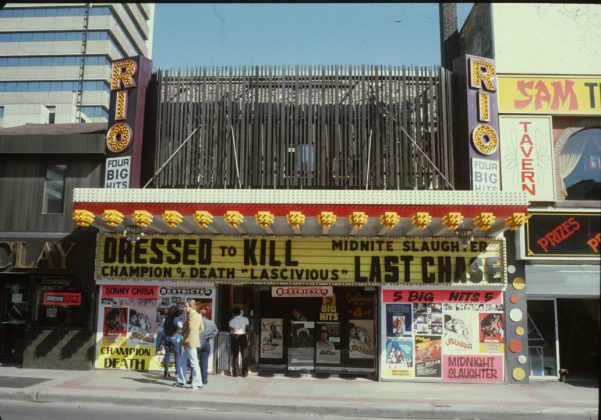 1986/92 - Rio Theatre once at 373 Yonge St, east side south of Gerrard St E - building no longer exists
