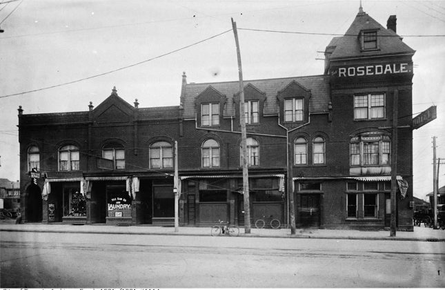 1914 - Rosedale Hotel once at 1145 Yonge St, and Shaftesbury Ave northeast corner