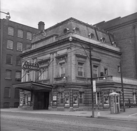 1955 - Royal Alexandra Theatre at 260 King St West, north side west of Simcoe St