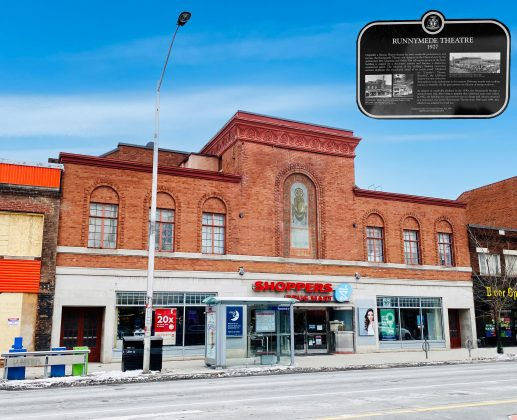 2020 - Runnymede Theatre once at 2223 Bloor St W, south side west of Runnymede Rd - now Shoppers Drug Mart