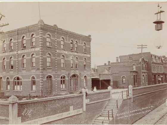 1896 - Union Hotel Parkdale once at Queen St W and Dufferin St, southwest corner - building no longer exists