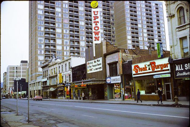 1972 - Uptown Theatre once at 764 Yonge St, west side south of Bloor St (City of Toronto Archives, Fonds124, File2, Id 111)