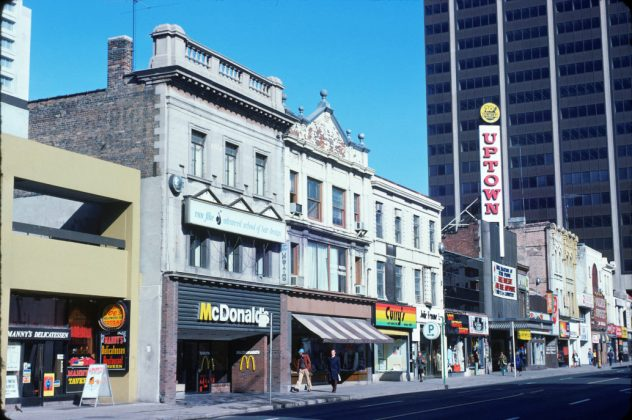 1975 - Uptown Theatre once at 764 Yonge St, west side south of Bloor St