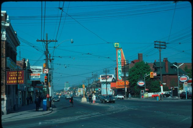 1975 - Vaughan Theatre, later Vaughan Bingo once at 550 St Clair Ave, west of Vaughan Rd on north side - opened in 1947, building no longer exists