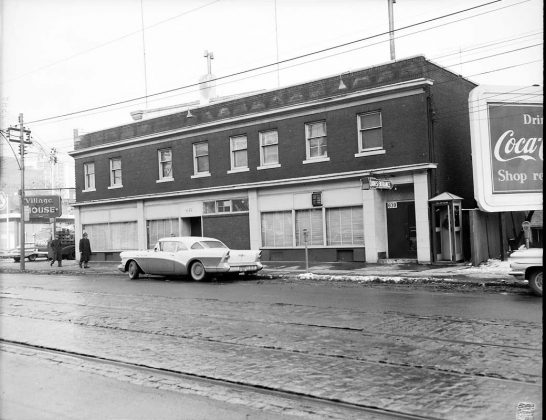 1950 - Village House Hotel once at Elm and Bay Sts, southeast corner