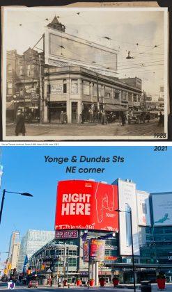 1923/2021 - Yonge and Dundas Sts, northeast corner