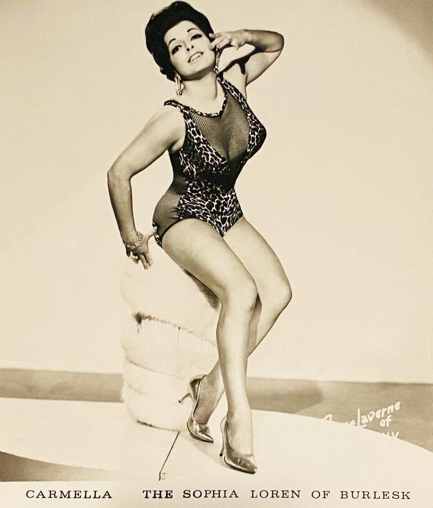 1960 - Promotional photo of Carmella - The Sophia Loren of Burlesk