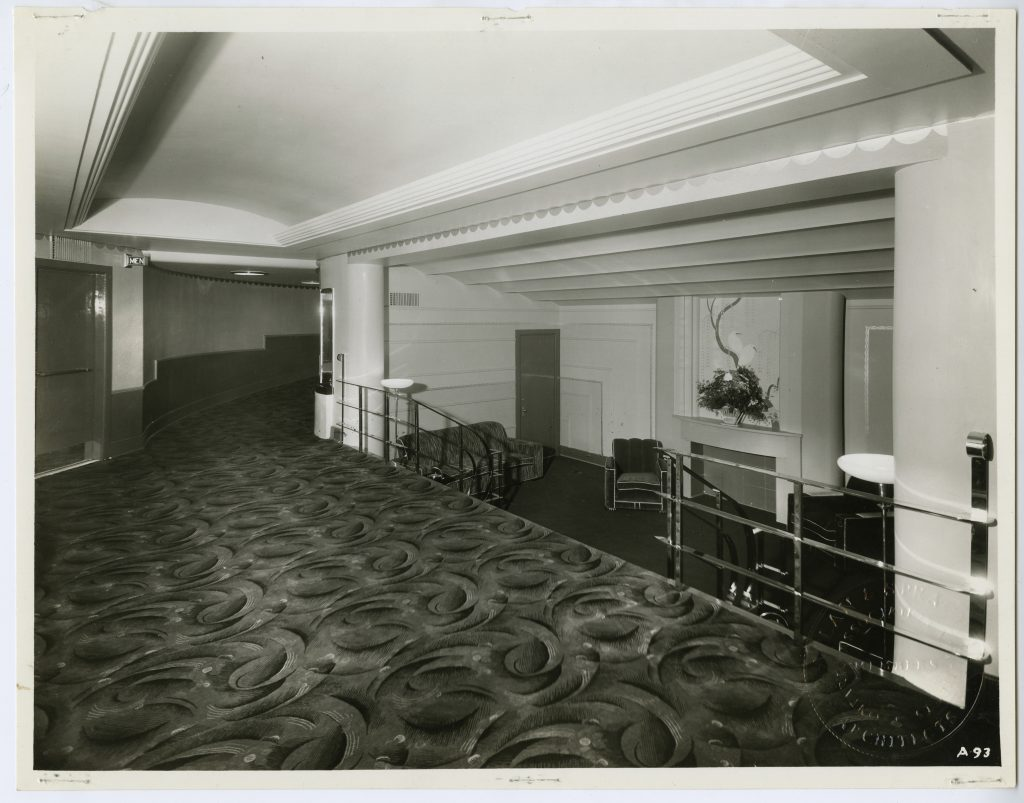 1937 - Lobby of the Bellevue Theatre
