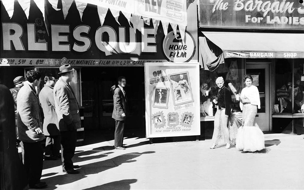 1960 - Performers and patrons in front of the Lux