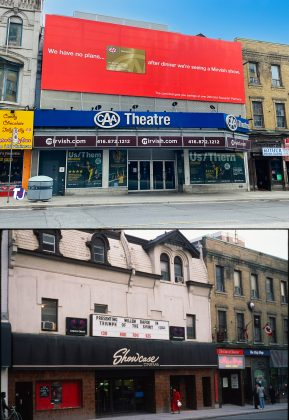 2021/1980's - CAA Theatre (formerly the Panasonic Theatre) at 651 Yonge St, east side south of Charles St - once Showcase Cinema