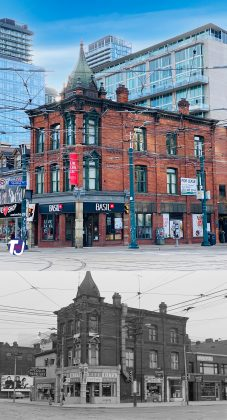 2020/1972 - Queen St W and Spadina Ave, southeast corner