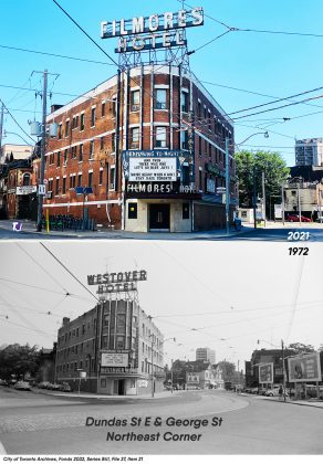 2021/1972 - Filmores Hotel at 212 Dundas St E, (and George St)